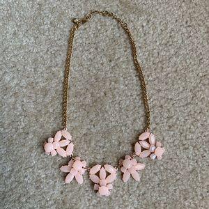 J. Crew peach flower statement necklace
